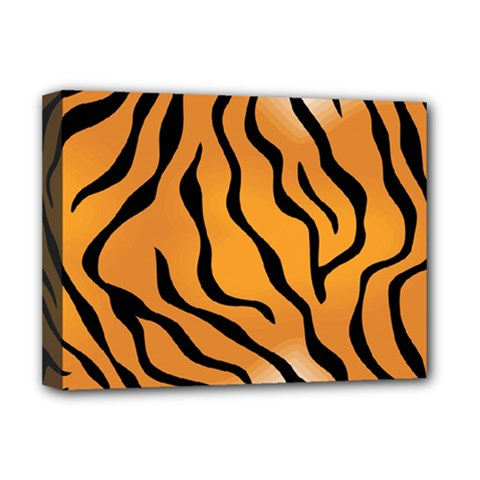 Tiger Skin Pattern Deluxe Canvas 16  X 12