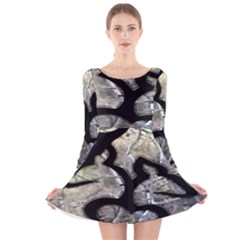 Black Love Browning Deer Camo Long Sleeve Velvet Skater Dress