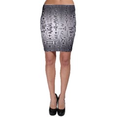 Science Formulas Bodycon Skirt