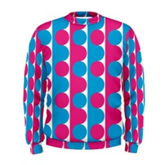 Pink And Bluedots Pattern Men s Sweatshirt