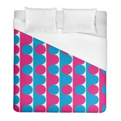 Pink And Bluedots Pattern Duvet Cover (full/ Double Size) by BangZart