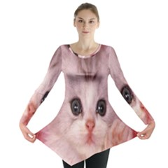 Cat  Animal  Kitten  Pet Long Sleeve Tunic  by BangZart