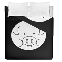 Pig Logo Duvet Cover Double Side (queen Size) by BangZart
