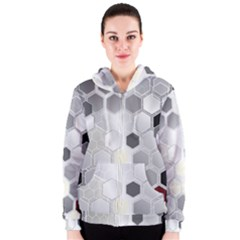 Honeycomb Pattern Women s Zipper Hoodie