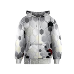 Honeycomb Pattern Kids  Zipper Hoodie