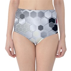 Honeycomb Pattern High Waist Bikini Bottoms