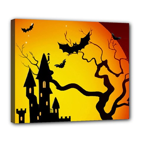 Halloween Night Terrors Deluxe Canvas 24  X 20   by BangZart