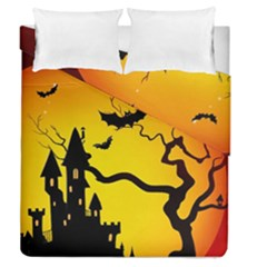 Halloween Night Terrors Duvet Cover Double Side (queen Size)