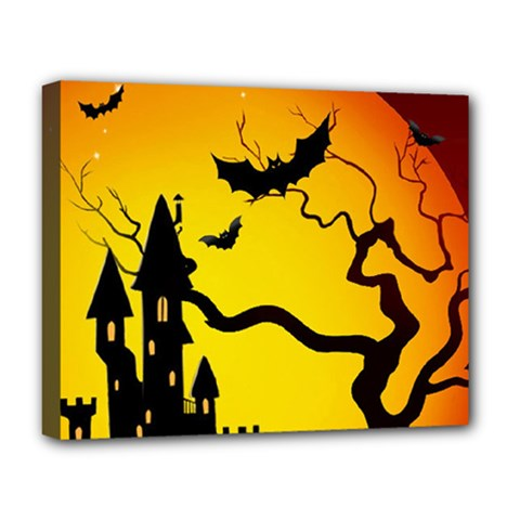 Halloween Night Terrors Deluxe Canvas 20  X 16