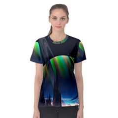Planets In Space Stars Women s Sport Mesh Tee