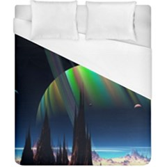 Planets In Space Stars Duvet Cover (california King Size)