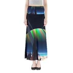 Planets In Space Stars Full Length Maxi Skirt by BangZart