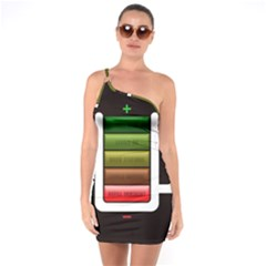 Black Energy Battery Life One Soulder Bodycon Dress
