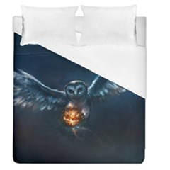 Owl And Fire Ball Duvet Cover (queen Size)