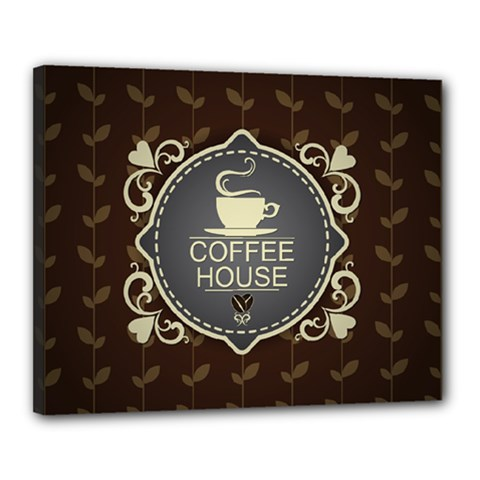 Coffee House Canvas 20  X 16