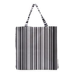 Barcode Pattern Grocery Tote Bag by BangZart