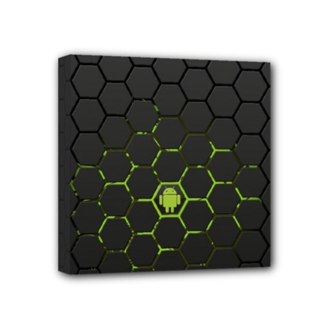 Green Android Honeycomb Gree Mini Canvas 4  X 4  by BangZart