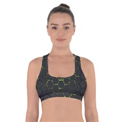 Green Android Honeycomb Gree Cross Back Sports Bra