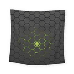 Green Android Honeycomb Gree Square Tapestry (small) by BangZart