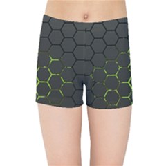 Green Android Honeycomb Gree Kids Sports Shorts