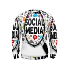 Social Media Computer Internet Typography Text Poster Kids  Sweatshirt by BangZart