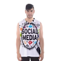 Social Media Computer Internet Typography Text Poster Men s Basketball Tank Top by BangZart