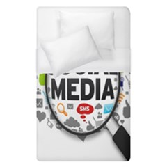 Social Media Computer Internet Typography Text Poster Duvet Cover (single Size) by BangZart