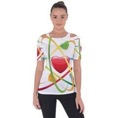 Love Short Sleeve Top by BangZart
