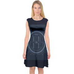 Minimalistic Knowledge Mathematics Trigonometry Capsleeve Midi Dress