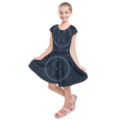 Minimalistic Knowledge Mathematics Trigonometry Kids  Short Sleeve Dress