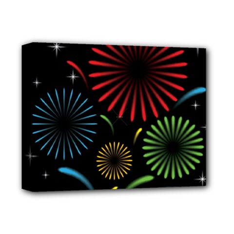 Fireworks With Star Vector Deluxe Canvas 14  X 11