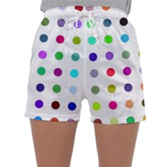 Circle Pattern Sleepwear Shorts