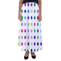 Circle Pattern Flared Maxi Skirt