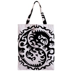 Ying Yang Tattoo Zipper Classic Tote Bag