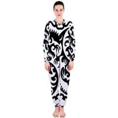 Ying Yang Tattoo Onepiece Jumpsuit (ladies)