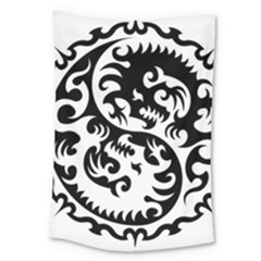 Ying Yang Tattoo Large Tapestry by BangZart
