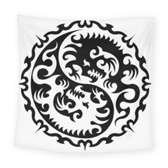 Ying Yang Tattoo Square Tapestry (large)
