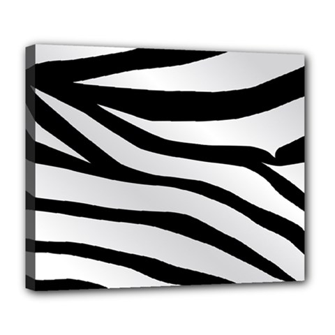 White Tiger Skin Deluxe Canvas 24  X 20   by BangZart