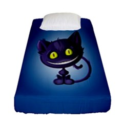 Funny Cute Cat Fitted Sheet (single Size) by BangZart