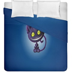 Funny Cute Cat Duvet Cover Double Side (king Size)