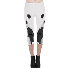 Panda Love Heart Capri Leggings
