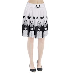Panda Love Heart Pleated Skirt