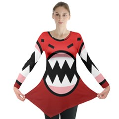 Funny Angry Long Sleeve Tunic  by BangZart