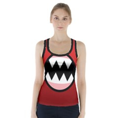Funny Angry Racer Back Sports Top