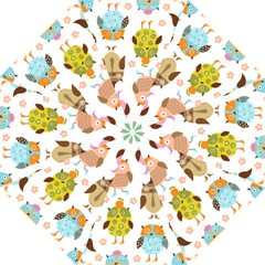 Cute Owls Pattern Straight Umbrellas