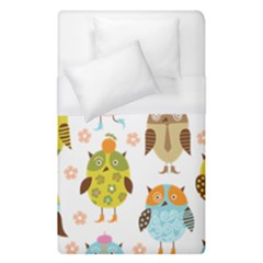 Cute Owls Pattern Duvet Cover (single Size)