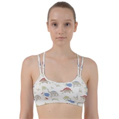 Dinosaur Art Pattern Line Them Up Sports Bra