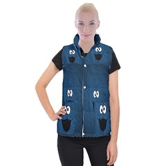 Funny Face Women s Button Up Puffer Vest