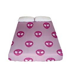 Alien Pattern Pink Fitted Sheet (full/ Double Size)