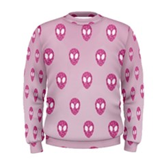 Alien Pattern Pink Men s Sweatshirt